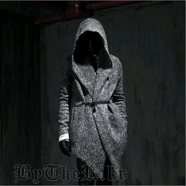 Harajuku 2017 gothic moda inverno slim fit dress mens casaco de ervilha com Capuz de Lã Casaco Para Homens Jaquetas E Casacos Peacoat plus tamanho
