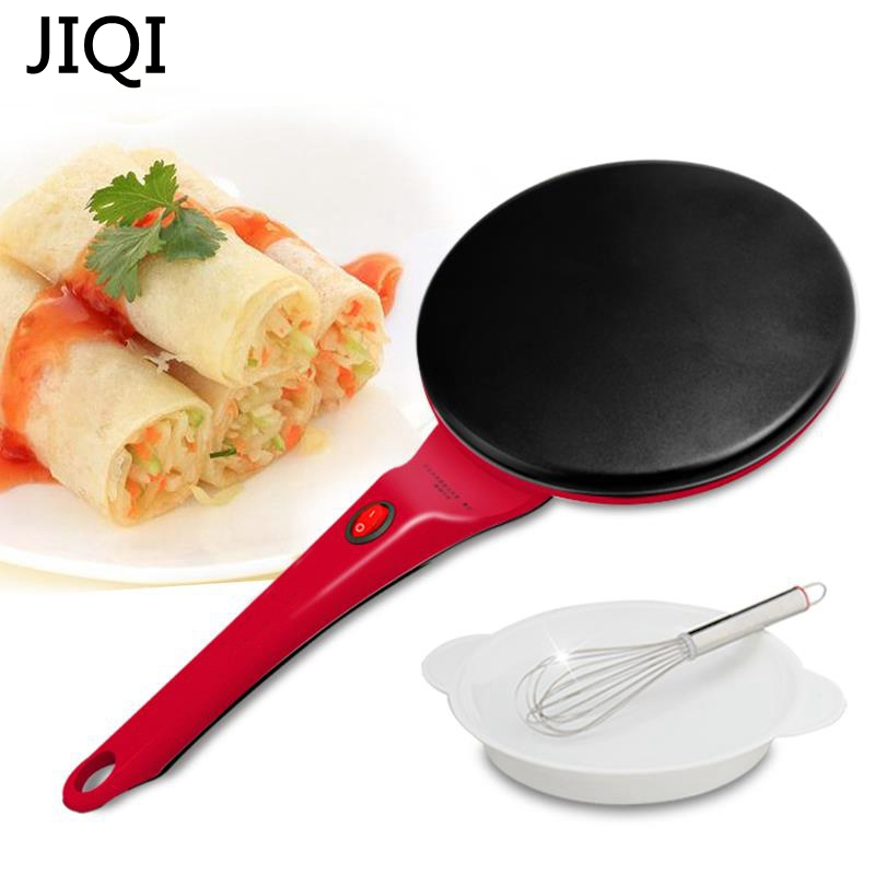 JIQI Household Non-stick Pan Electric Cake Stall Pancake Machine Portable Electric Bread Machine  Grilled Pancake Machine jiqi electric baking pan double side heating household cake machine flapjack pizza barbecue frying grilling plate large1200w