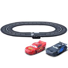 Disney Pixar car3 Electric handle control track toy car piston cup 95 Mcqueen Jackson race Plastic mold car diecast electric car(China)