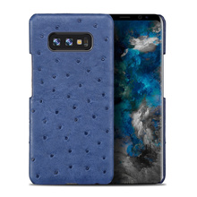 Genuine ostrich skin Leather phone case for samsung s10 Anti-fall full protective For galaxy note 10 A70 J7back cover