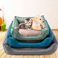 New pattern Soft many colors Pet Products winter warm dog bed house for dog Sleeping