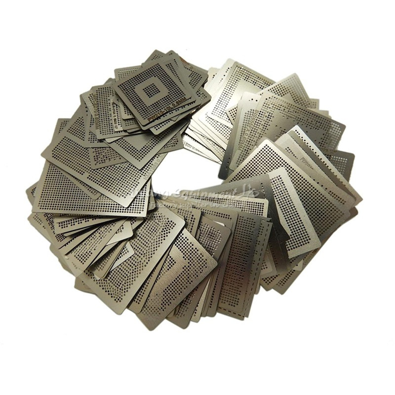 47pcs/set Direct Heat Reballing Universal Directly Stencils For Game Console PS3 CPU PS4 GPU XBOX CXD WII image