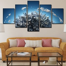 Three dimensional city Landscape HD Print Wall Art Canvas Painting Modern Home For Living Room Artwork