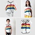 Arco iris de Rayas Camiseta 2017 BOBO Choses lobo rita Nueva multicolor Graffiti Imprimir Tees tops para muchachas de los bebés de los niños Pre-venta