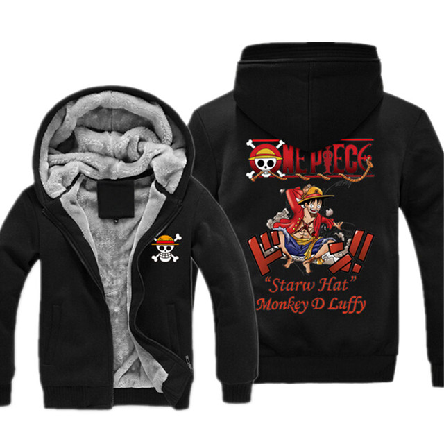 One Piece Luffy Chopper Thicken Zipper Sweatshirt Hoodie