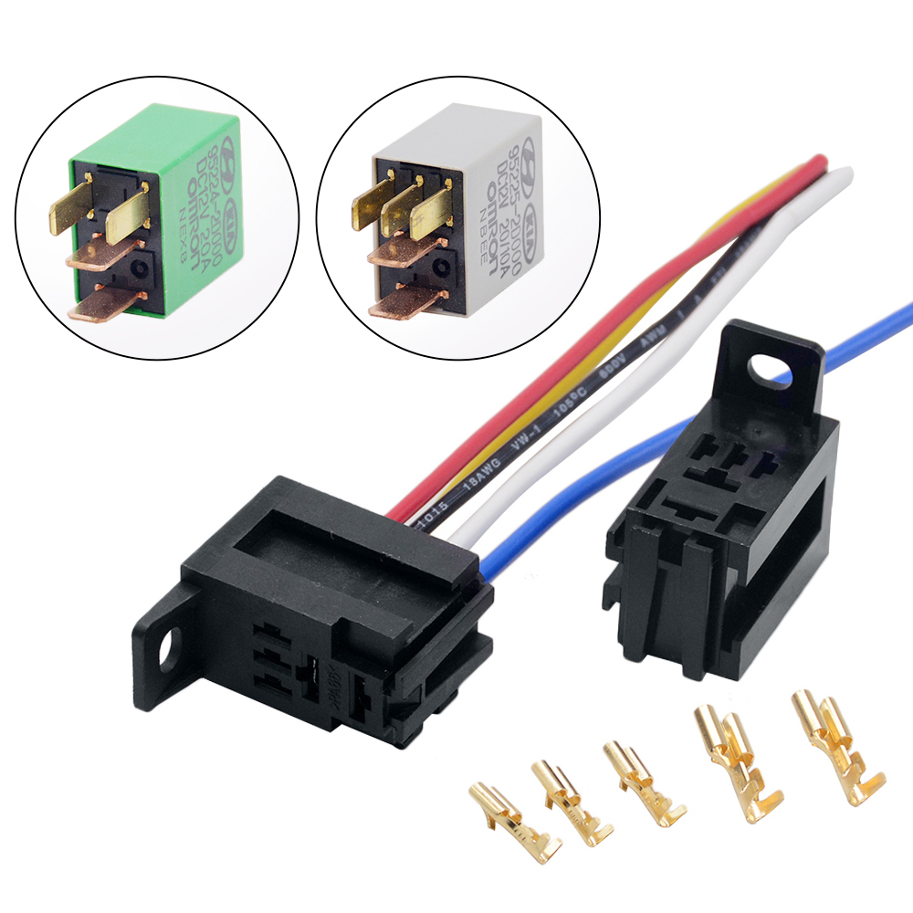 US $1.02 15% OFF|1PC THREE TYPES 12V Car OMRON Power Relay Socket for on idec relay wiring, car relay wiring, orion relay wiring, auto relay wiring,