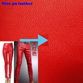 137*45cm 1pcs Red Faux Leather Fabric,Pu Leather Fabric,Synthetic Artificial Fabric For Diy Sewing Quilting Pants&Dress&Clothes