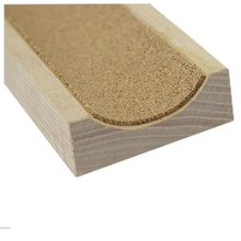 5 PCS of (1x Guitar Bass Neck Support Caul Long Neck Support Guitar Fretwork Cork Lined Wood Color)