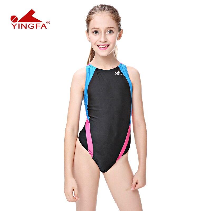 hohes Ansehen verrückter Preis beste Wahl US $14.94 10% OFF Yingfa bademode schwimmen frauen badeanzüge Kinder racing  kinder konkurrenzfähiger badeanzug Mädchen training wettbewerb schwimmen ...