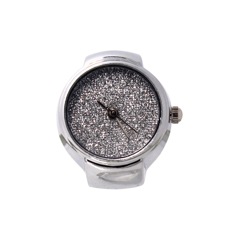 Fashion Unisex Steel Round Elastic Quartz Finger Ring Watch Shine Dial Ring Watches Jewelry Gifts High Quality @17 LXH