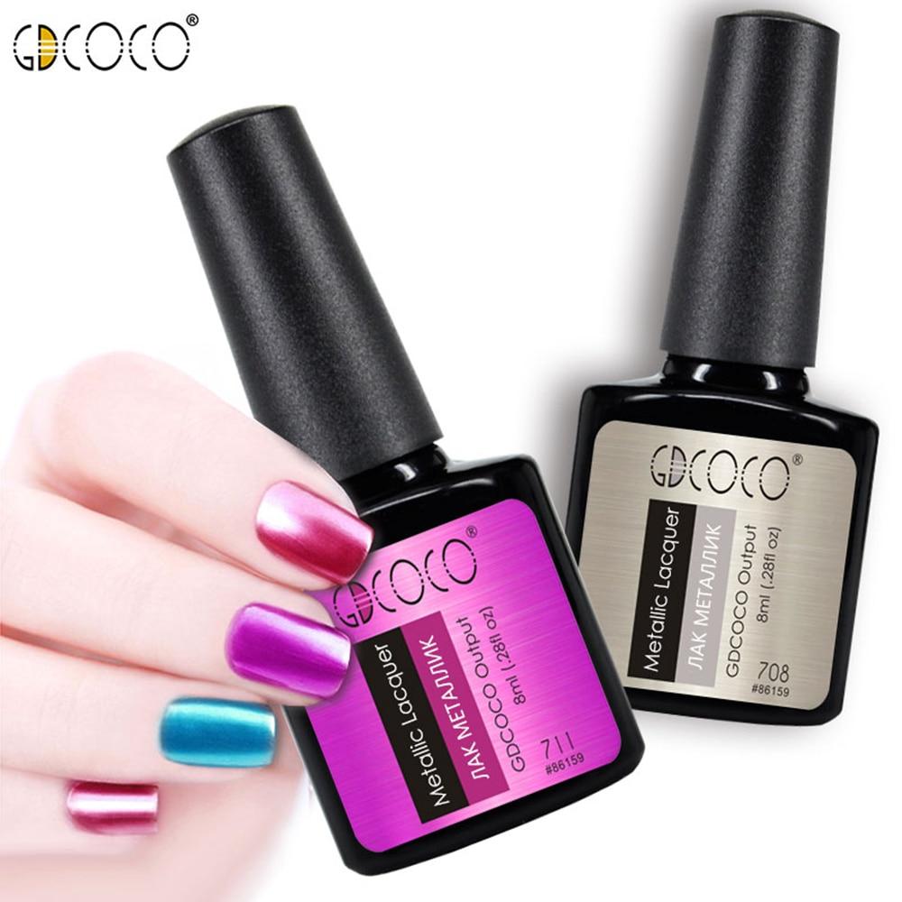GDCOCO Metall Nagellack Gel Nail Art weg tränken UV LED Glitter Gel - Nagel Kunst - Foto 6