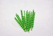 Set of 50 Green Drinking Straws