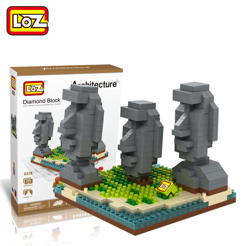 LOZ Architecture Mini Diamond Building Nano Blocks Toys LOZ Easter Island Mini DIY Bricks Figure Toys for Children Educational loz architecture famous architecture building block toys diamond blocks diy building mini micro blocks tower house brick street