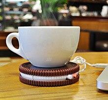 Neue Heiße Tragbare Kaffee Milch Tee Getränke USB Netzteil Kabel Heizmatte Saugnapf Pad Kreative Sandwich modellierung bahnen