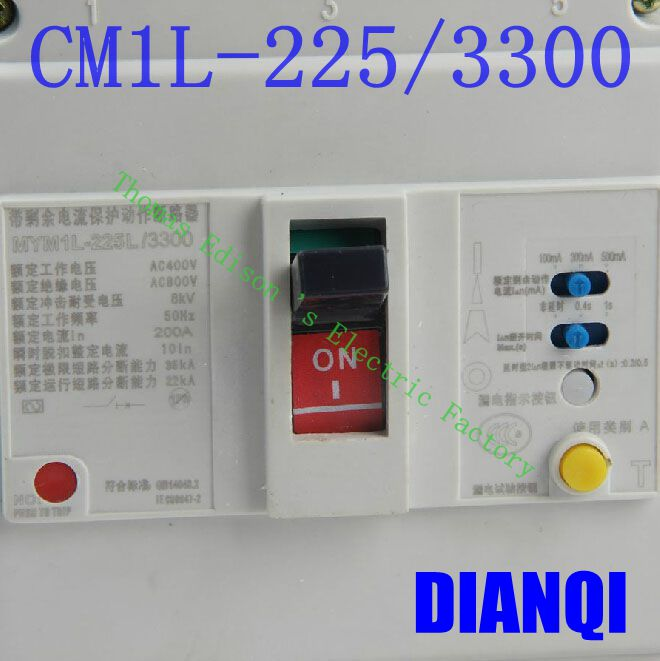 CM1L-225/3300 MCCB 100A 125A 160A 180A 200A 225A molded case circuit breaker CM1L-100 Moulded Case Circuit Breaker cm1 400 4300 mccb 200a 250a 315a 350a 400a molded case circuit breaker cm1 400 moulded case circuit breaker