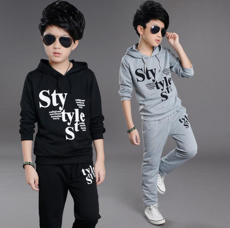 KID CHILDREN BOY Suit for children during the spring and autumn of 2018 new boys scout Hoodie two piece youth casual sportswear