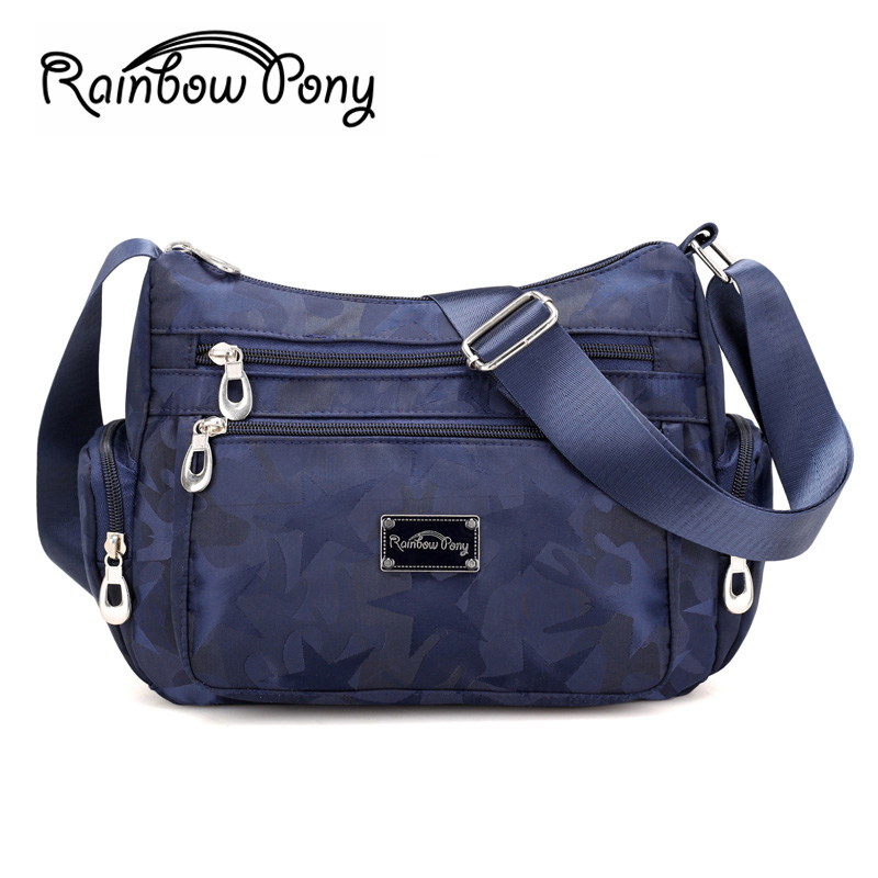 Rainbow Pony 2017 New Women Nylon Bag Casual Camouflage Bag Waterproof Nylon Shoulder Crossbody Bags RBPONY Women Handbags WH518 2016 autumn and winter new casual waterproof nylon shell bag soft bag portable women shouid bags dd5023