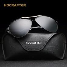 2017HDCRAFTER Eyewear Man Sunglasses Man Aluminum Magnesium Uv Protection Pilot Vintage Polarized Driver Fishing UV400 CR39 E018
