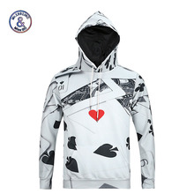 Mr.1991INC New Fashion Men's 3d sweatshirt Poker print hooded hoodies casual lovely tracksuits hoody tops with pockets Plus Size