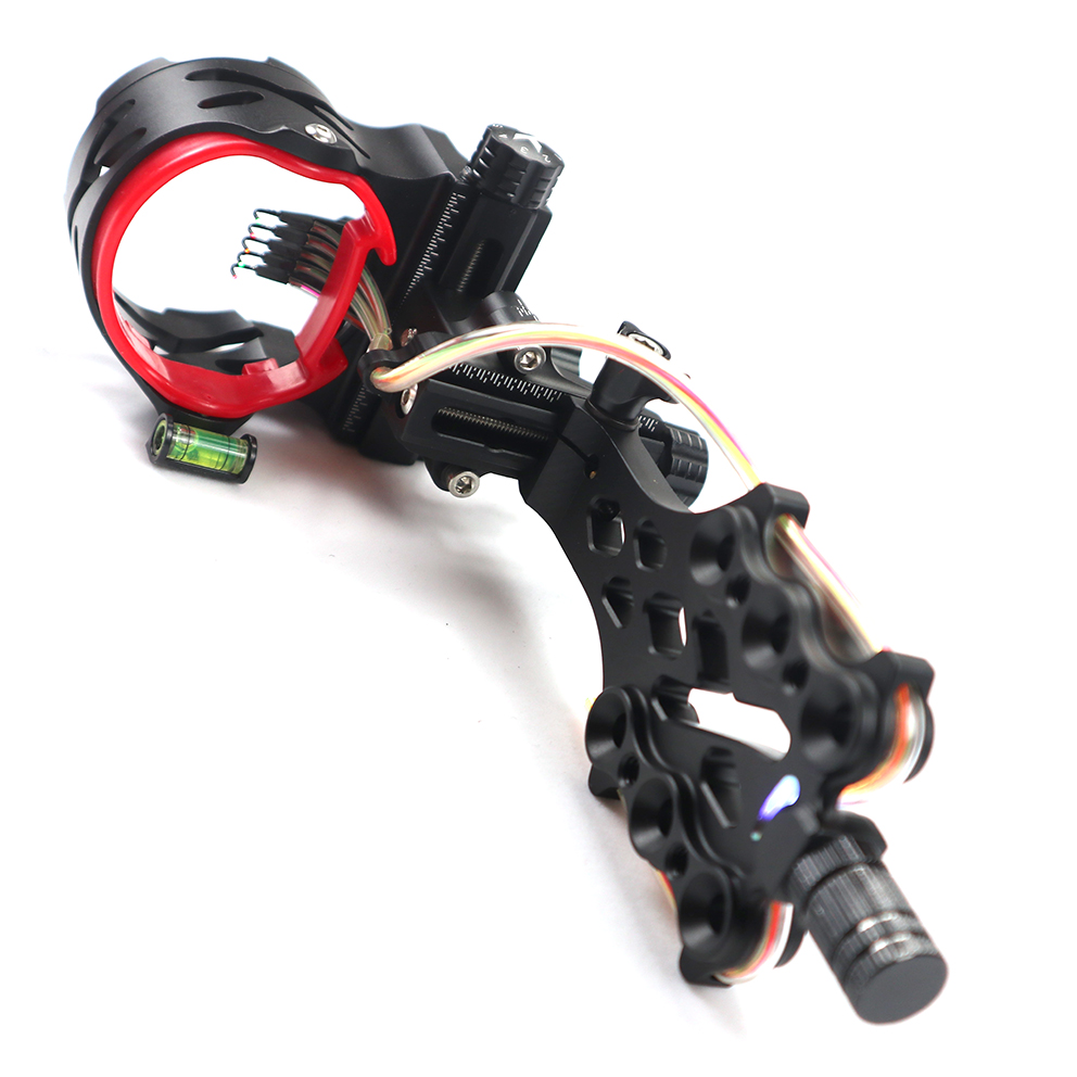 AXT X 5 pin Bow Sight Compound Bow Micro Adjust 2 HD Fiber Guard Micro LED
