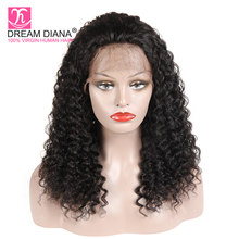 DreamDiana Loose Deep Wave Full Lace Wigs 150 Density Malaysian Full Lace Wigs 100% Human Hair Full Lace Wigs Glueless Wigs(China)