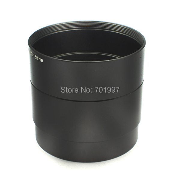 цена на 58mm Lens Adapter Tube Suit for Canon PowerShot G11 G10 Cameras