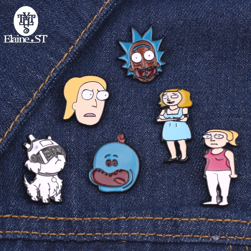 Home & Garden Steady 1 Pcs Cartoon Cute Animal Cat Rabbit Metal Brooch Button Pins Denim Jacket Pin Jewelry Decoration Badge For Clothes Lapel Pins