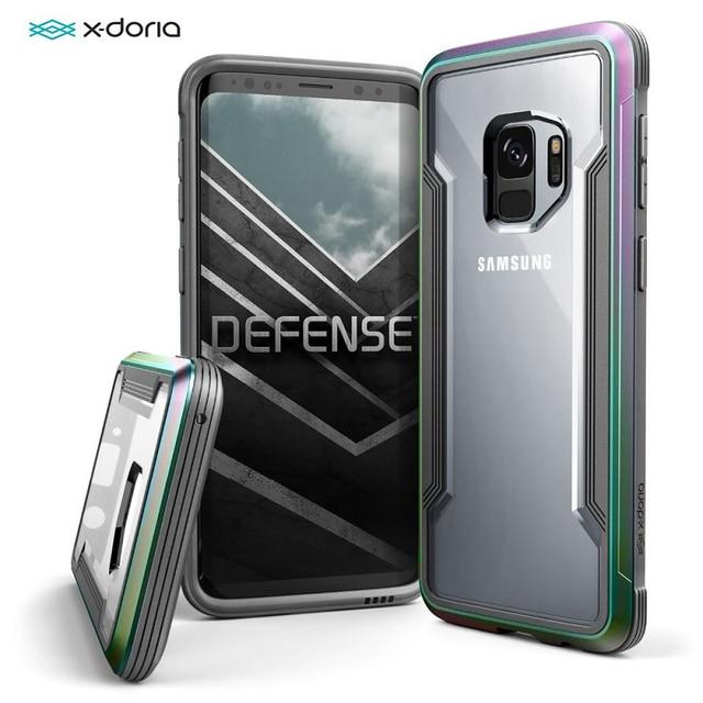 X Doria Defense Shield Case For Samsung Galaxy S9 S9 Plus Cover Military Grade Drop Tested  Aluminum Phone Protective Case