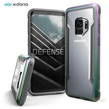 X Doria Verdediging Schild Case Voor Samsung Galaxy S9 S9 Plus Cover Militaire Grade Drop Getest Aluminium Telefoon Beschermende case