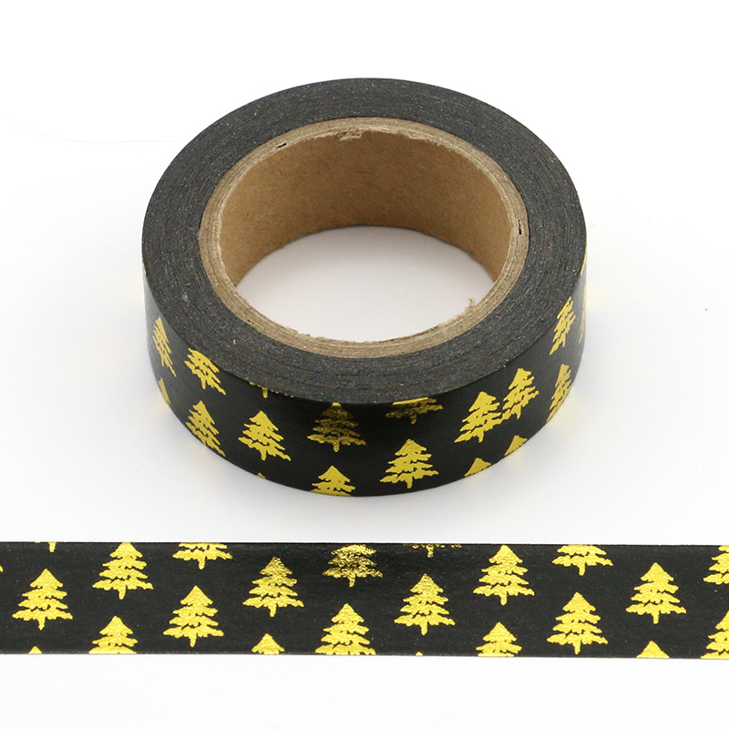 1X japanese rice paper printing masking tape Merry Christmas tree washi tape in Office Adhesive Tape from Office School Supplies