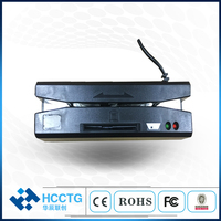 Portable all in one usb 2.0 card reader driver/2mm 3Tracks Magnetic head reader/ic chip reader&writer HCC110