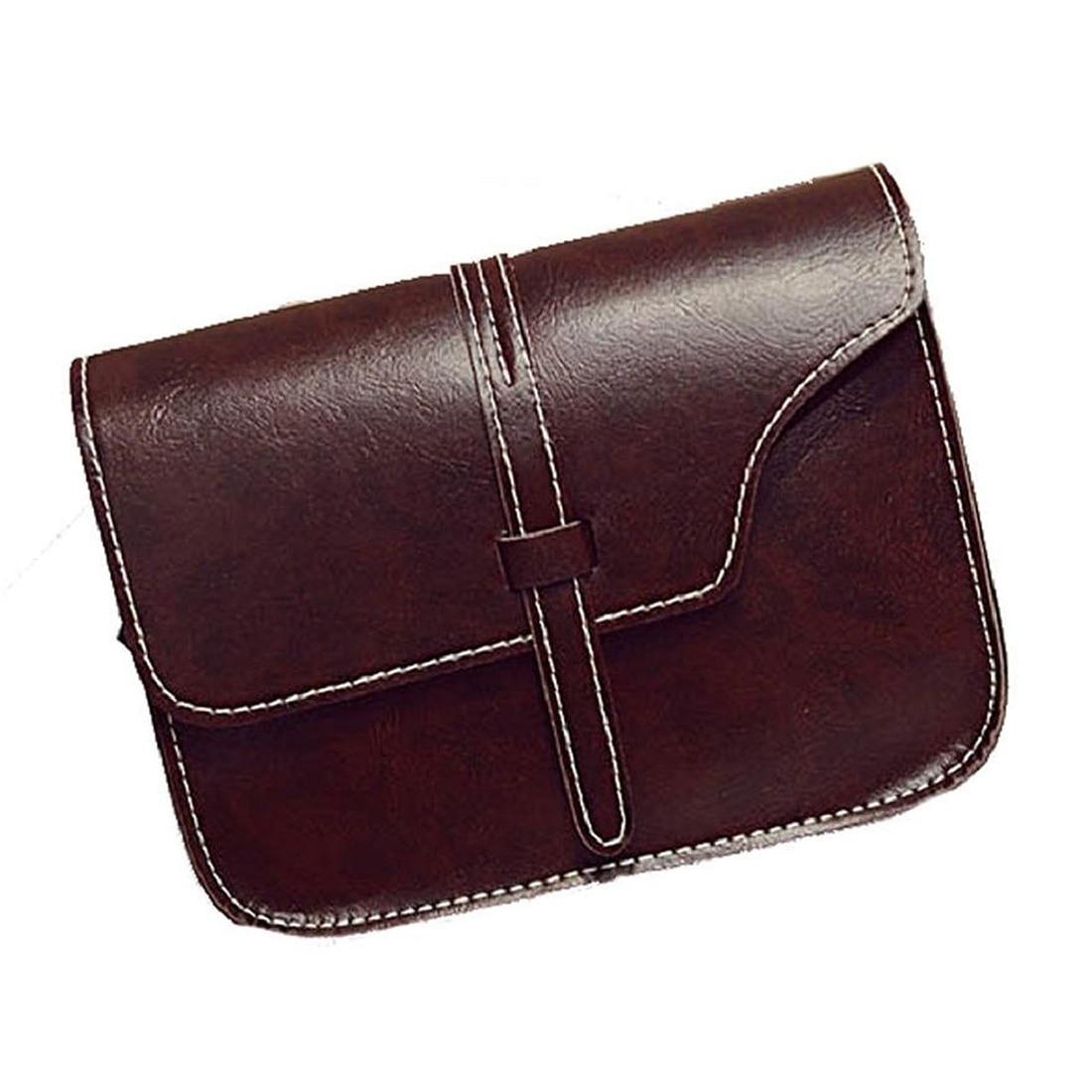 Для женщин девушка сумка Портфели Искусственная кожа crossbody Сумка (темно-коричневый)