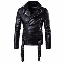 New Men Slim Fit Jackets Autumn Mens Hip Hop Street Classic Design Multi-Zippers Motorcycle Biker Coats Outerwear M-5XL