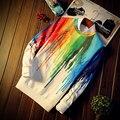 Wetailor 2017 Весна harajuku моды для мужчин толстовки красочный расплавленный crayon мужская с длинным рукавом пуловеры толстовки спортивный костюм