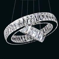 Modern Luste K9 Crystal Chandeliers Suspension Living room lights Modern Crystal Chandeliers LED Drop 1/2/3/4rings Lamp