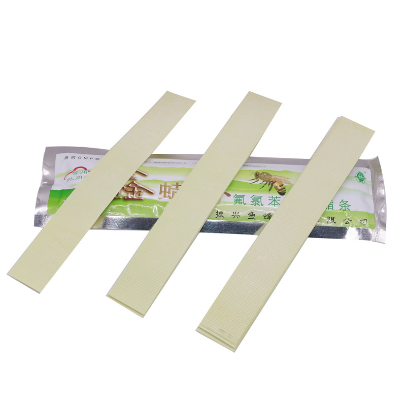 10 bag 200 pcs Fluvalinate Strip with High Concentration Powerful Active Varroa Mite Control Beekeeping Medicine
