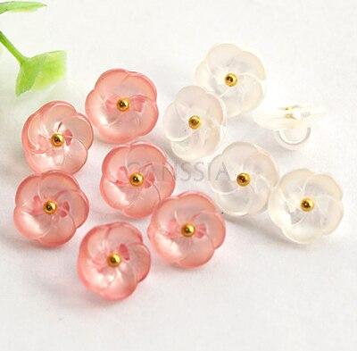 """30 יח'\חבילה אופנה פרח 11.5mm (15/32 """") כפתורי 3 צבע שוק כפתור תפירת כפתור חולצה אביזרי בגד (ss-1001)"""