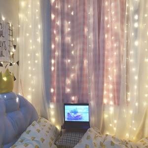 Image 3 - 3x3m 300 led מחרוזת אורות פיית חתונת מסיבת גן led וילון דקור זרי חג מולד אור מחרוזת led אורות קישוט