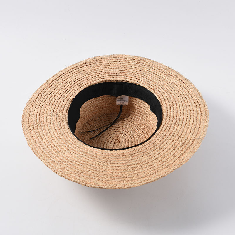 Image 5 - 2019 New Tea Party Hat Classic Bow Raffia Hats Women Girls Flat Sun Hat Chinese Straw Hat Summer Cap Dropshipping Wholesale-in Women's Sun Hats from Apparel Accessories