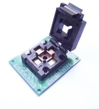 QFP52 TQFP52 SOKET adaptörü test koltuğu LQFP52 programlama koltuk PQFP52 yanan koltuk FPQ 52 0.65 04 0.65 MM