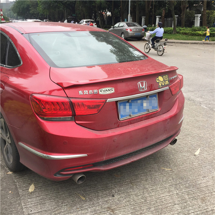 For 2017 2016 Honda Spirior Acura Tsx Spoiler Abs Material Car Rear Wing Primer Color In Spoilers Wings From