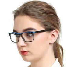 Office Anti Blue Light Computer Spectacles Frames Textured Myopia Prescription Optical Eyeglasses Frame Femme MARE AZZURO OC7117