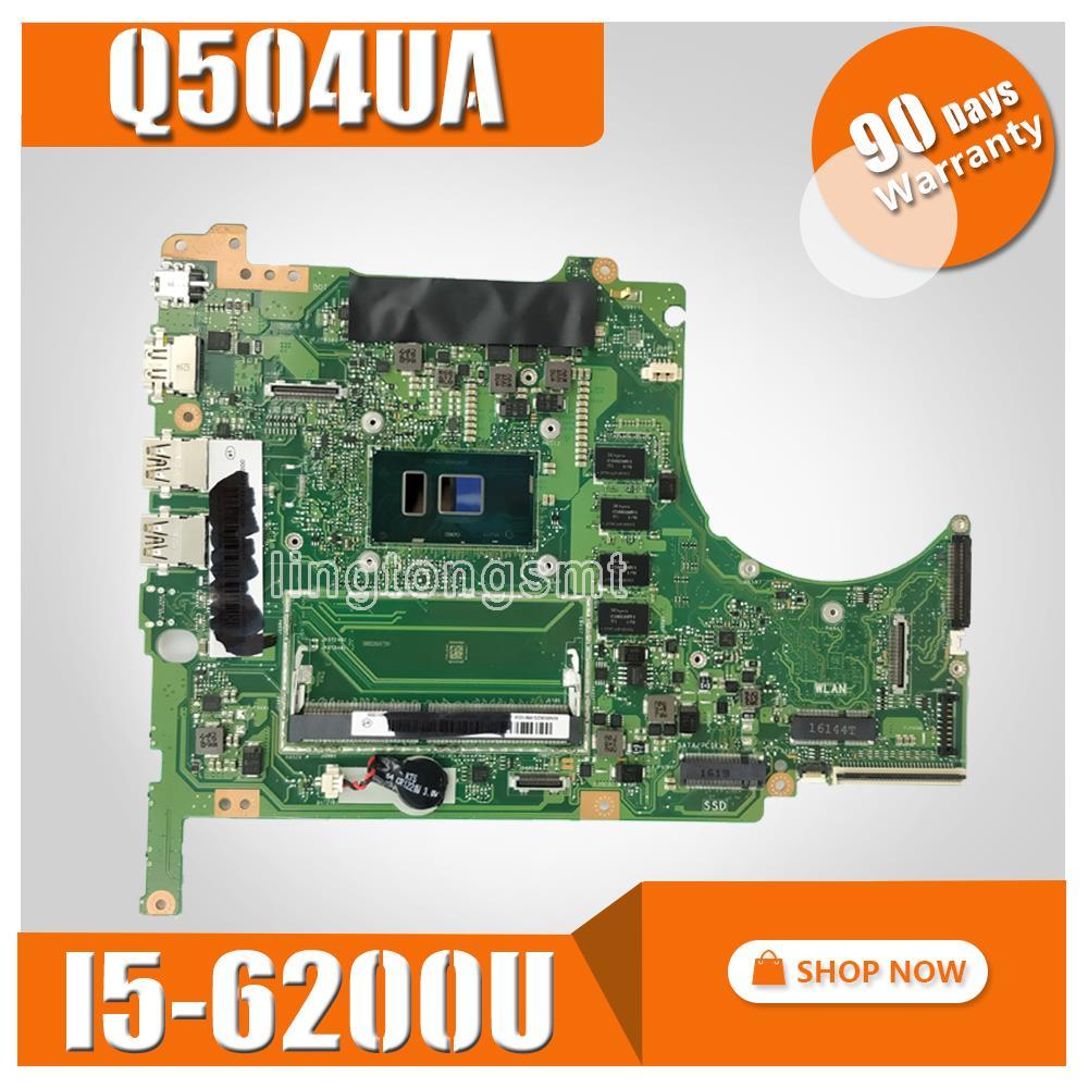 Q504UA материнская плата для ноутбука ASUS Q504UA Q504U Q504 тесты оригинальная плата 8 г оперативная память/I5 6200U процессор 90NB0BZ0 R00010