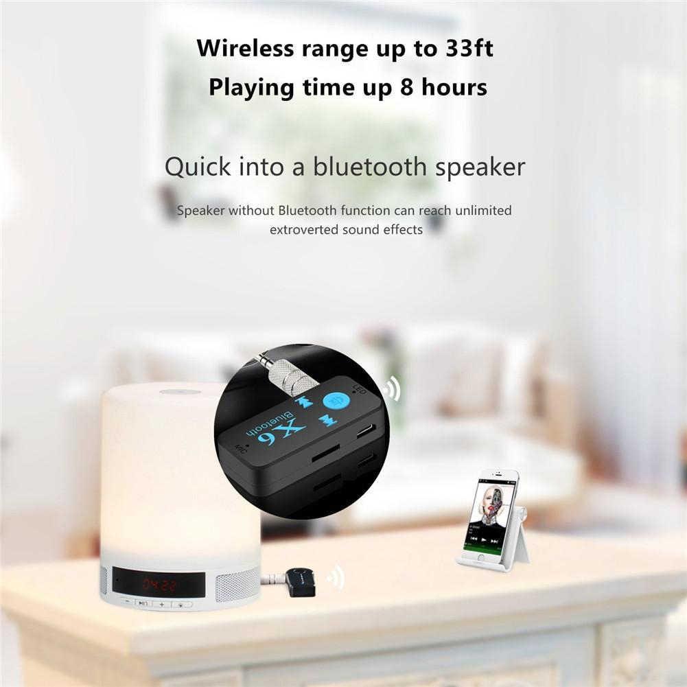 Портативный аудио Jack 3,5 мм TF Card Reader 3 в 1 USB 4,1 адаптер Bluetooth приемник микрофона вызова мини Беспроводной X6