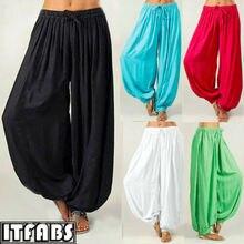 Men & Women Harem Pants Cotton Baggy  Aladdin Afghan Genie Hippy Jumpsuit UK
