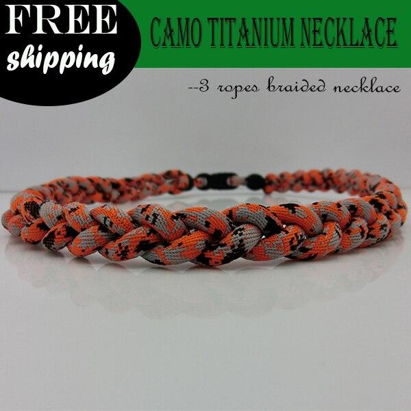 2015 Neue Ankunft Digital Camo Tornado Halskette-orange Hochglanzpoliert