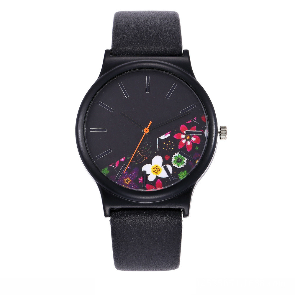 Black Flower Watch Women Watches Ladies 2017 Brand Luxury Famous Female Clock Quartz Watch Wrist Relogio Feminino Montre Femme цена