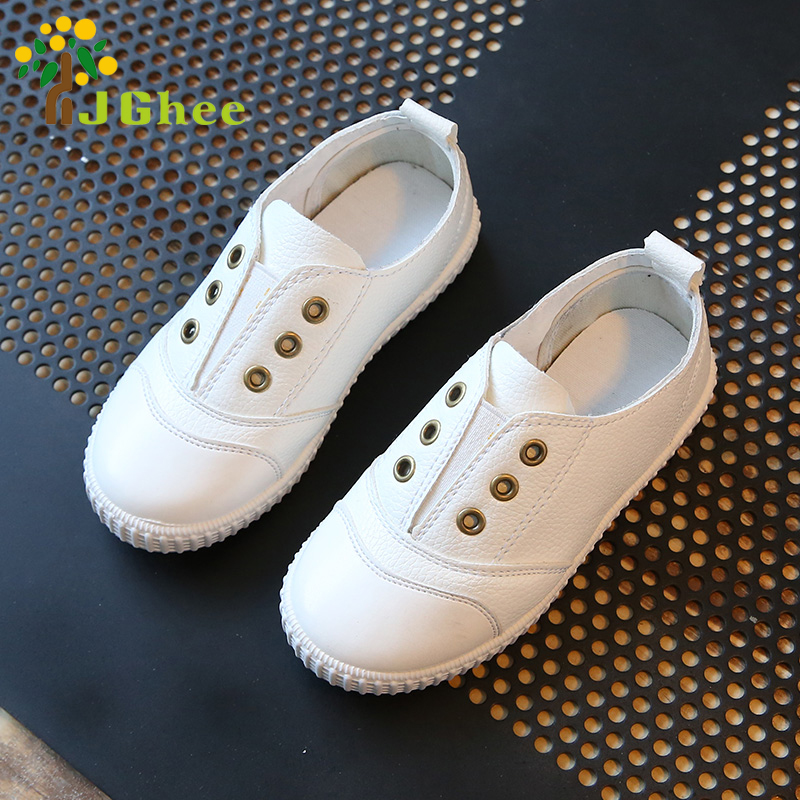 Kids Shoes For Boys Girls PU Leather Fashion Soft Slip-on Kids Sneakers Children Casual Shoes Sports Running Shoes
