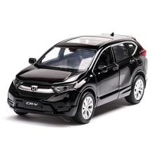 лучшая цена 1:32 alloy car model crv suv children's toy car off-road vehicle simulation sound and light pull back decoration collection gift