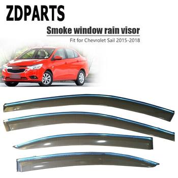 ZDPARTS 4pcs Car Wind Deflector Sun Guard Rain Wind Vent Visor Cover Trim Accessories For Chevrolet Sail 2015 2016 2017 2018